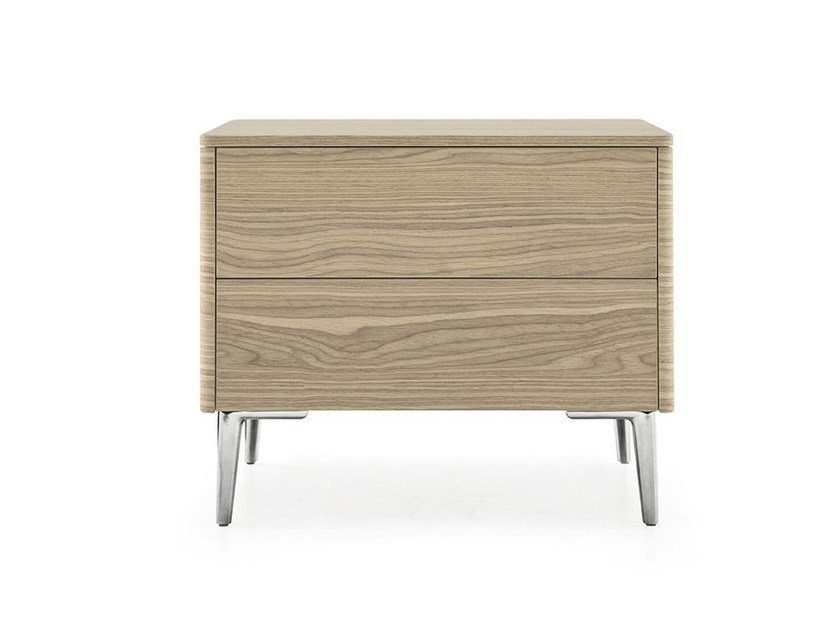 Rectangular bedside table with drawers BOSTON | Bedside table by Calligaris