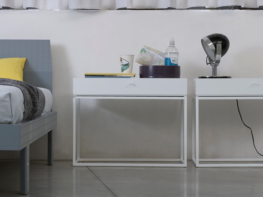 Lacquered bedside table BOX | Bedside table with drawers by Capo d'Opera