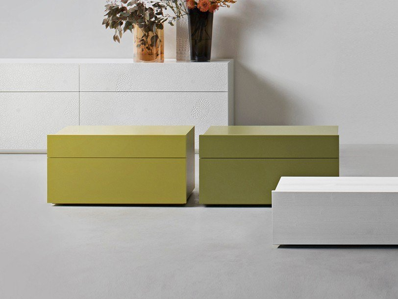 Bedside table with drawers SHOW   Bedside table by Capo d'Opera