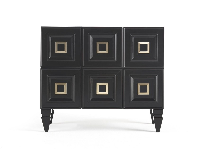 Rectangular wooden bedside table with drawers PERRY   Bedside table by Gianfranco Ferré Home