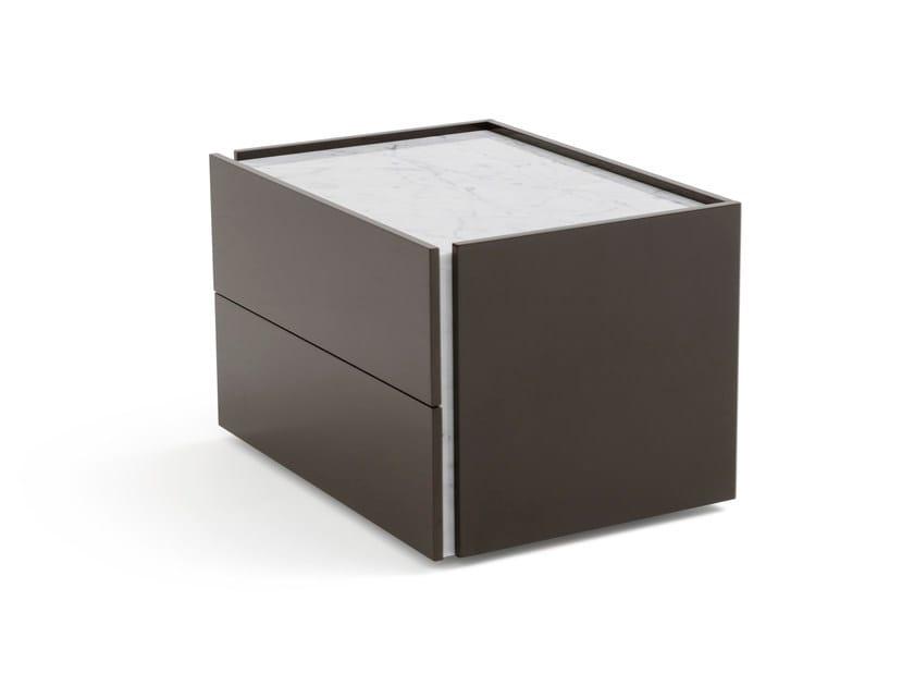 Comodino rettangolare in legno con cassetti ATLANTE | Comodino by PIANCA