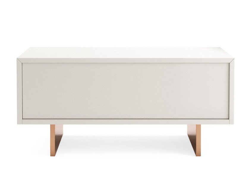 Lacquered rectangular wooden bedside table MOOD | Bedside table by PRADDY