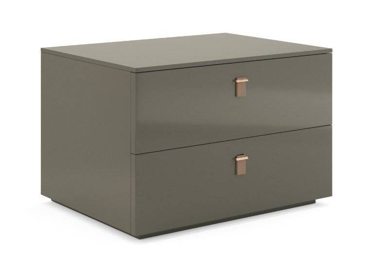 Lacquered rectangular bedside table with drawers SERENADE | Bedside table by PRADDY
