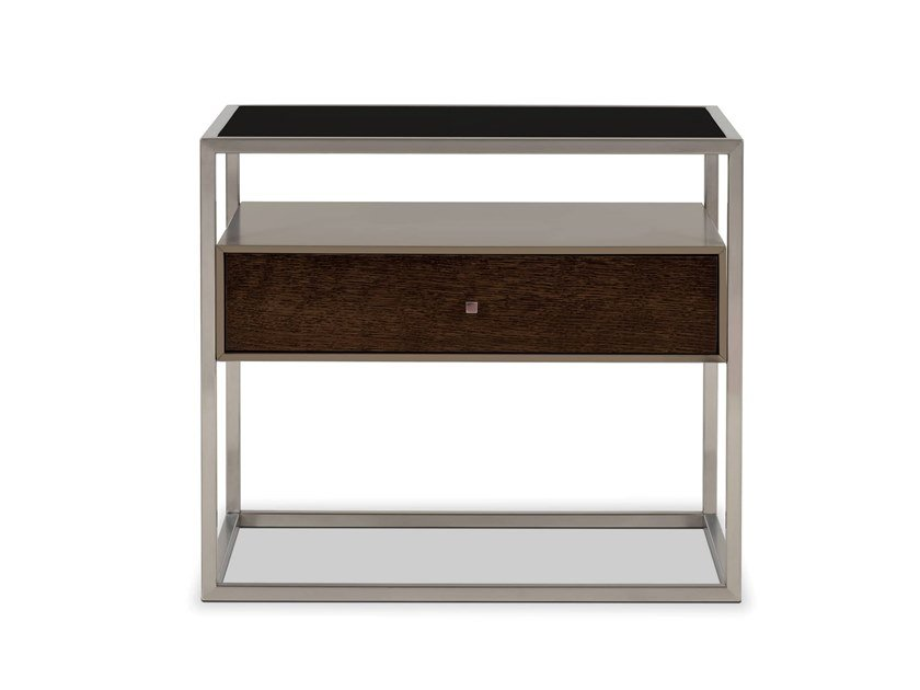 Rectangular wood veneer bedside table with drawers BRIDGE | Bedside table by Stylish Club