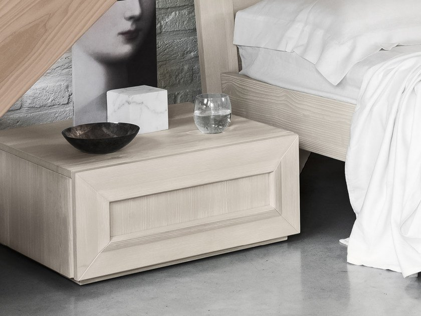 Spruce bedside table FADA | Bedside table by Scandola Mobili
