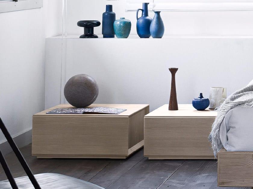 Spruce bedside table QUADRA | Bedside table by Scandola Mobili
