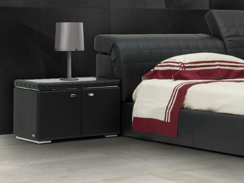 Rectangular leather bedside table BRISBANE | Bedside table by Tonino Lamborghini Casa