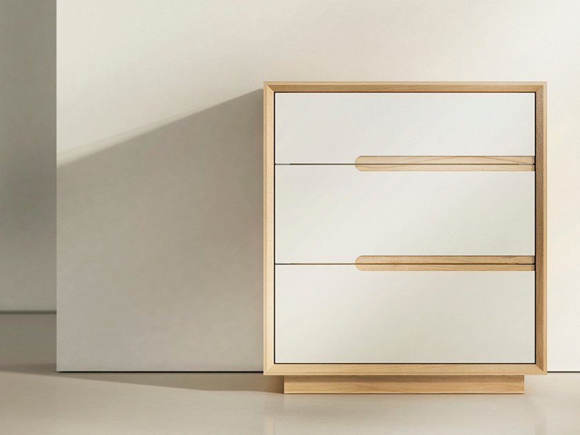 Wooden bedside table with drawers ARES | Bedside table by WUDA