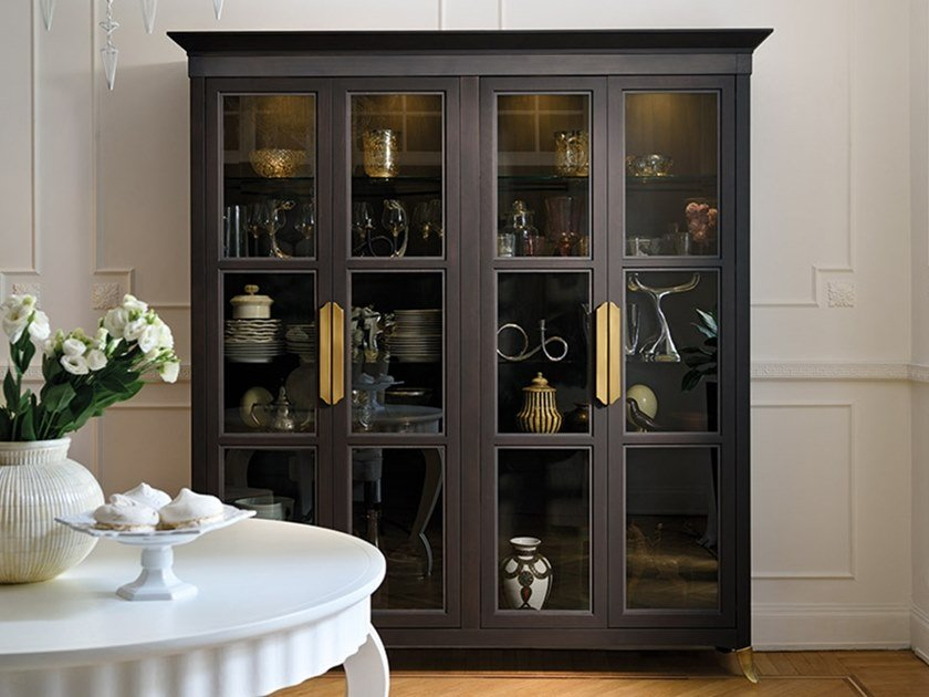 Lacquered beech display cabinet CAPRICCI | Beech display cabinet by Prestige