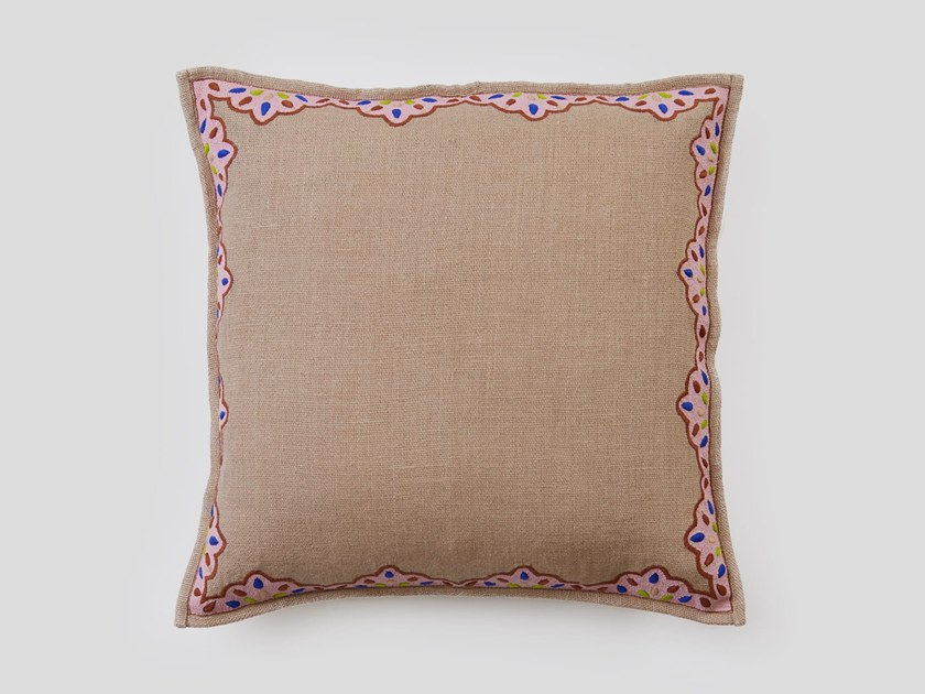 Hand embroidered cushion BEECH by Jupe by Jackie