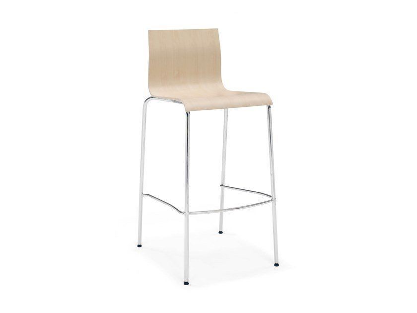 Beech barstool with footrest NOA BARSTOOL | Beech stool by Casala