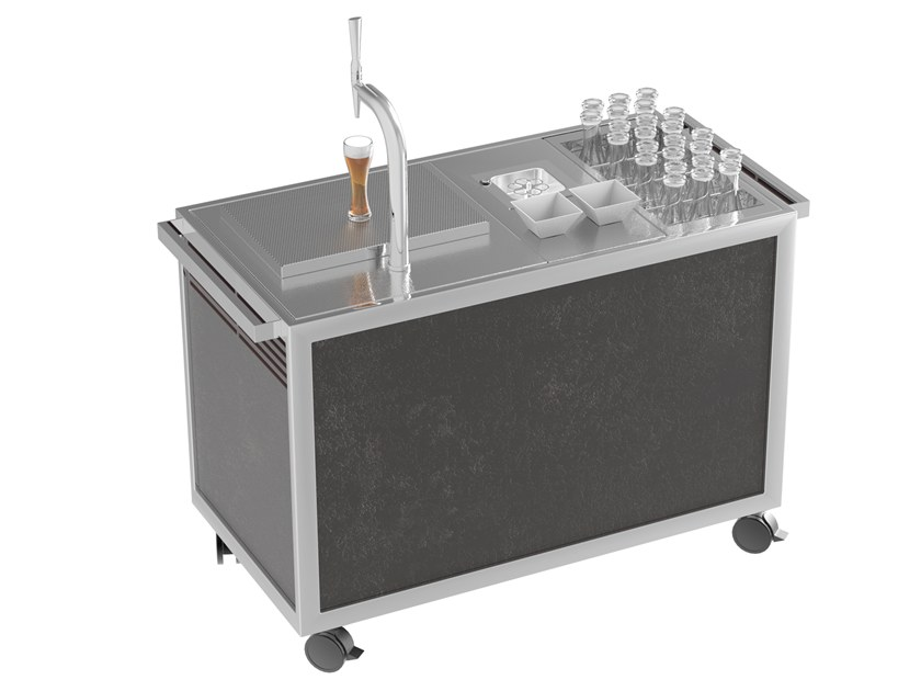 Beer Refrigerated Serving trolley Beer cabinet by La tavola