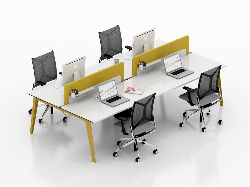 Multiple office workstation BEEWORK | Office workstation by Tuna Ofis
