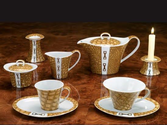 Porcelain tea set BEL AIR | Tea set by Formitalia