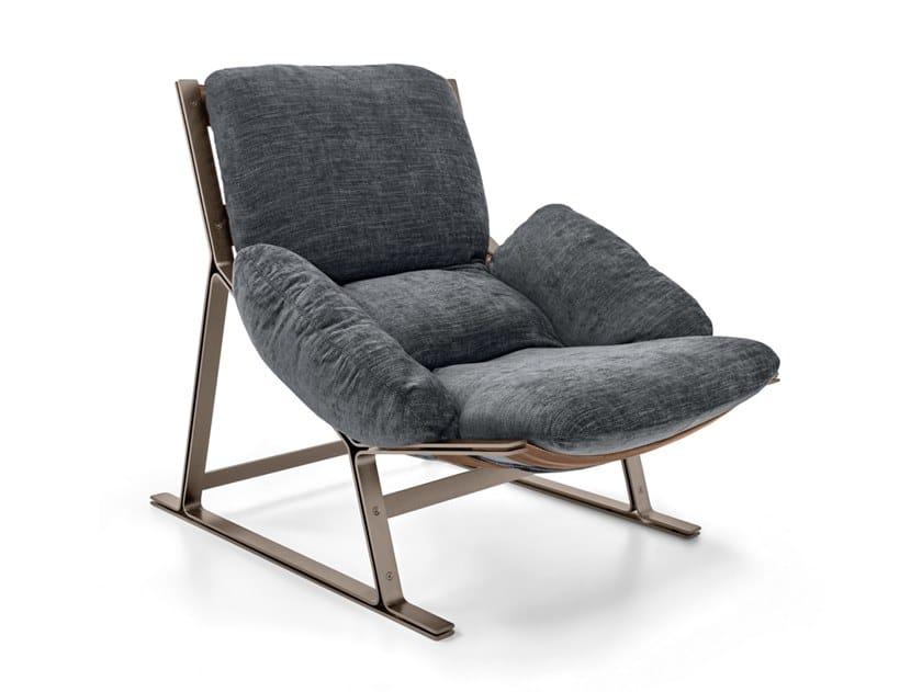 Sled base fabric armchair BELAIR | Fabric armchair by Arketipo