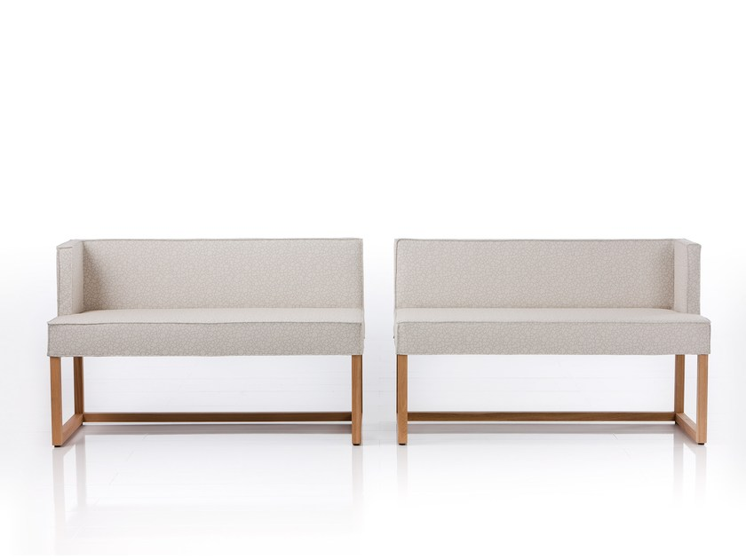 Fabric bench with back BELAMI | Fabric bench by brühl
