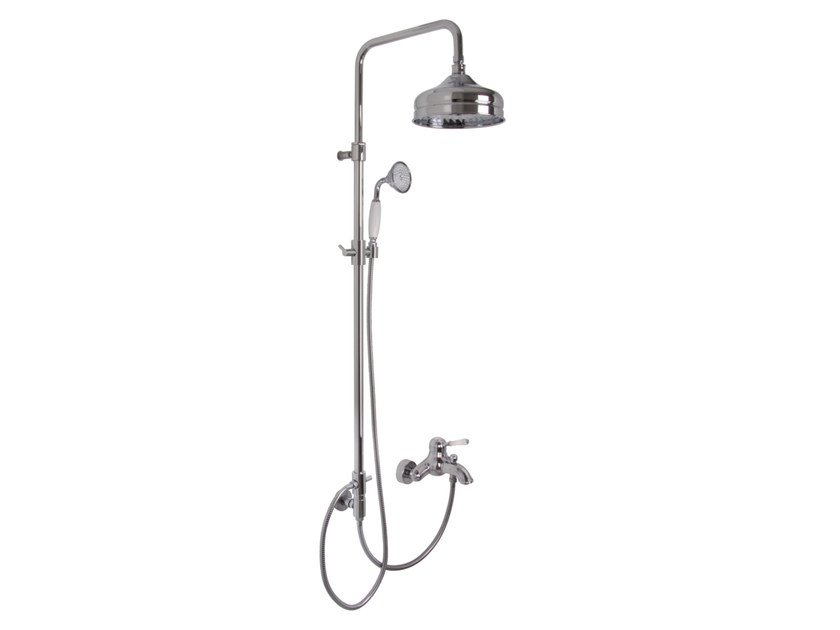 Wall-mounted shower panel with overhead shower BELL F3364/2 | Shower panel by FIMA Carlo Frattini