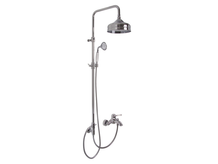 Shower wallbar with hand shower with mixer tap with overhead shower BELL F3364/2 | Shower wallbar by FIMA Carlo Frattini