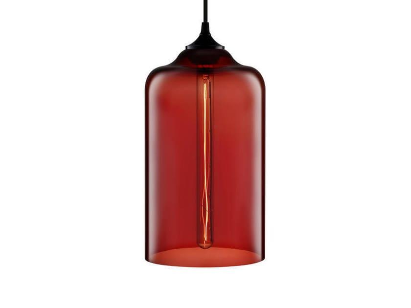 LED handmade blown glass pendant lamp BELLA by Niche Modern