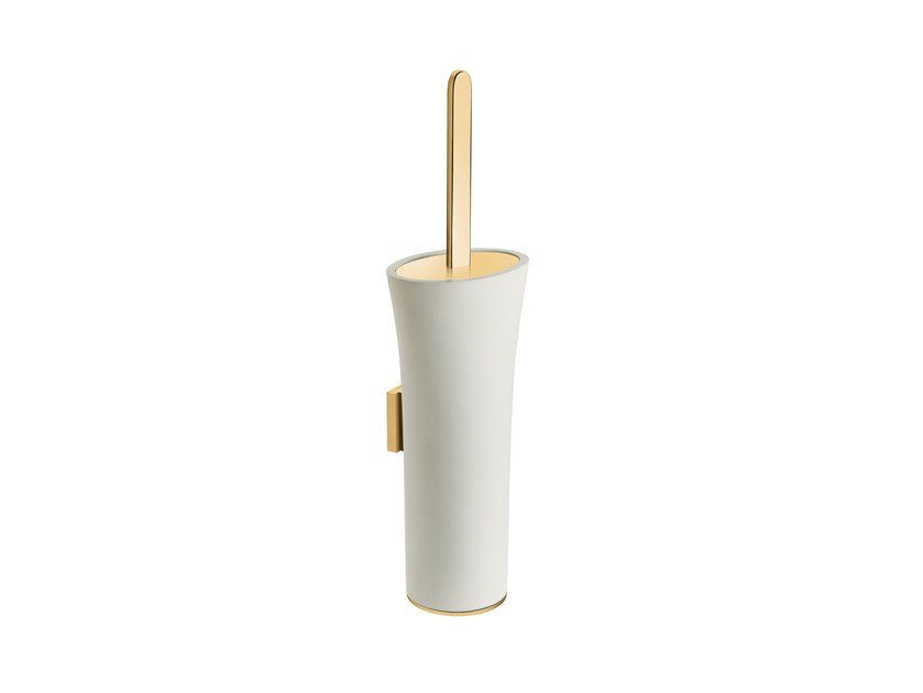 Wall-mounted brass toilet brush BELLE 769001---   Wall-mounted toilet brush by pomd'or