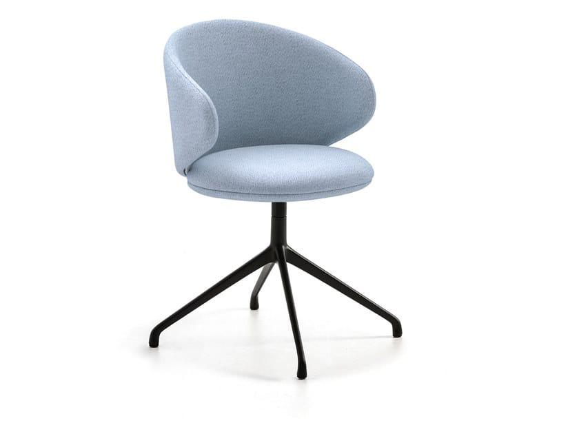 Swivel fabric chair with 4-spoke base BELLE | Chair with 4-spoke base by arrmet