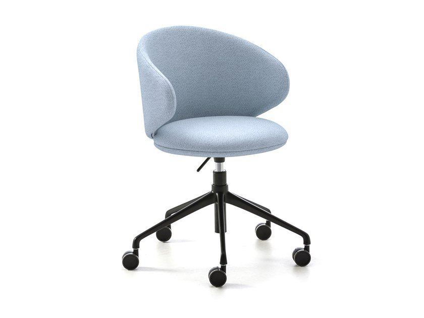 Height-adjustable fabric chair with castors BELLE   Chair with castors by arrmet