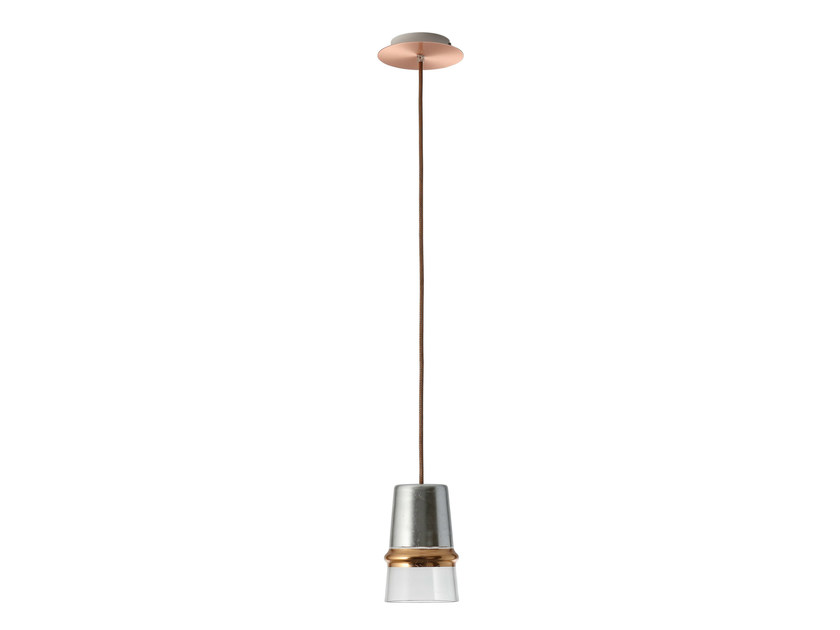 Glass pendant lamp BELLE D'I 20 CHIC by Hind Rabii
