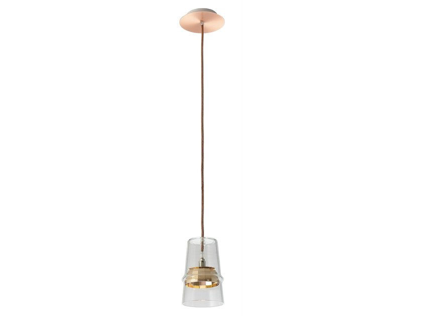 Glass pendant lamp BELLE D'I 20 TECH by Hind Rabii