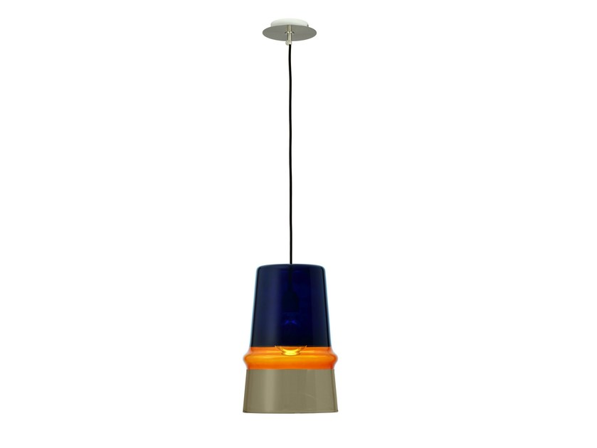 Glass pendant lamp BELLE D'I COLOR by Hind Rabii