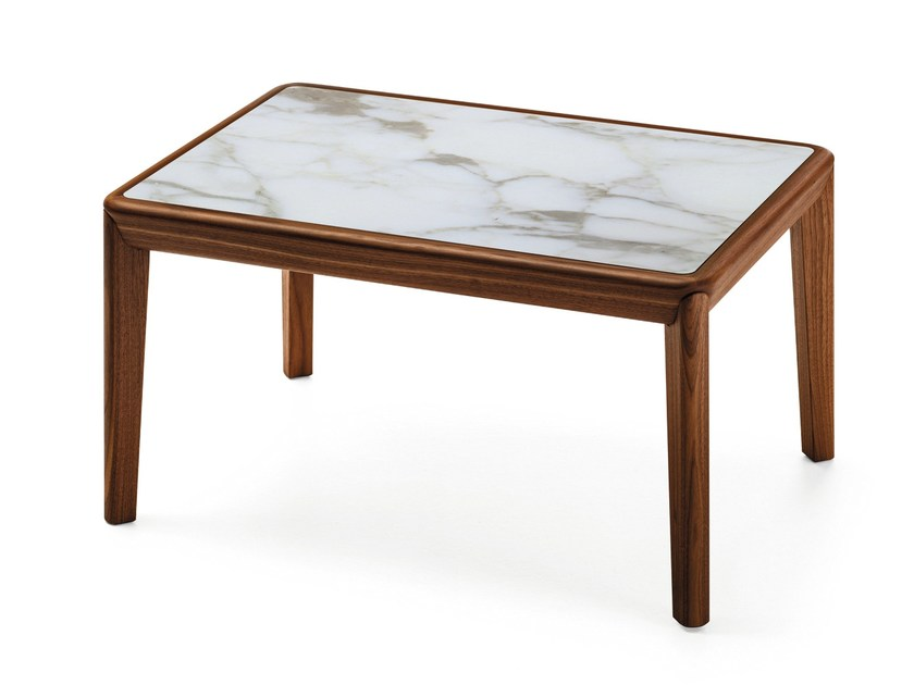 Rectangular marble coffee table BELLEVUE T03M by Very Wood