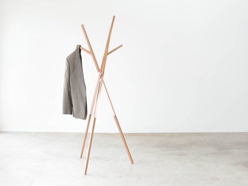 Solid wood coat stand BELLWOODS | Oak coat rack by hollis+morris