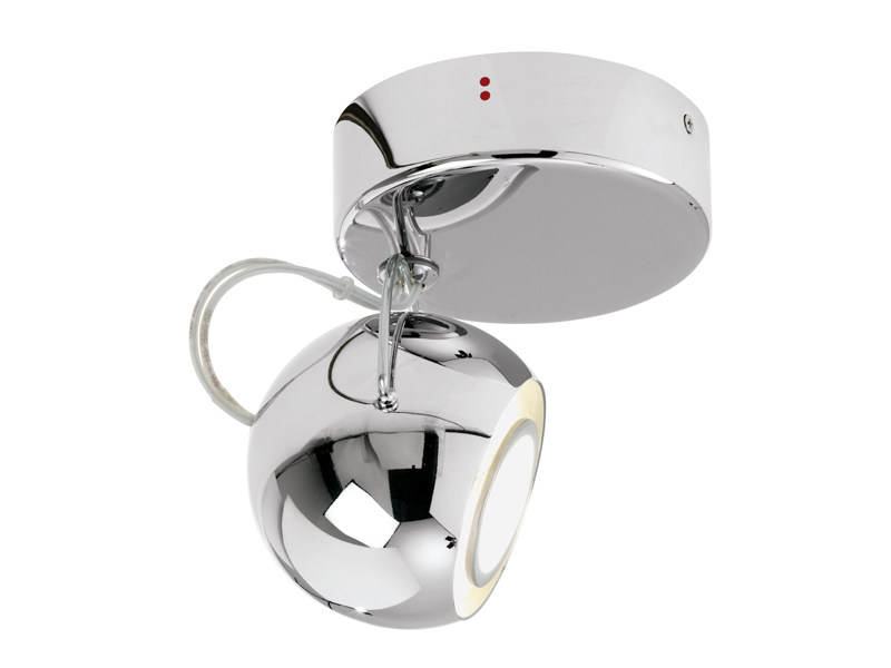 Adjustable spotlight BELUGA STEEL | Adjustable spotlight by Fabbian