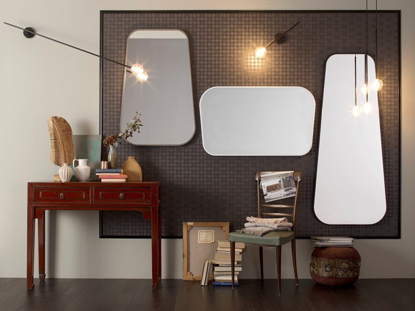Framed wall-mounted mirror BELVEDERE by Capo d'Opera