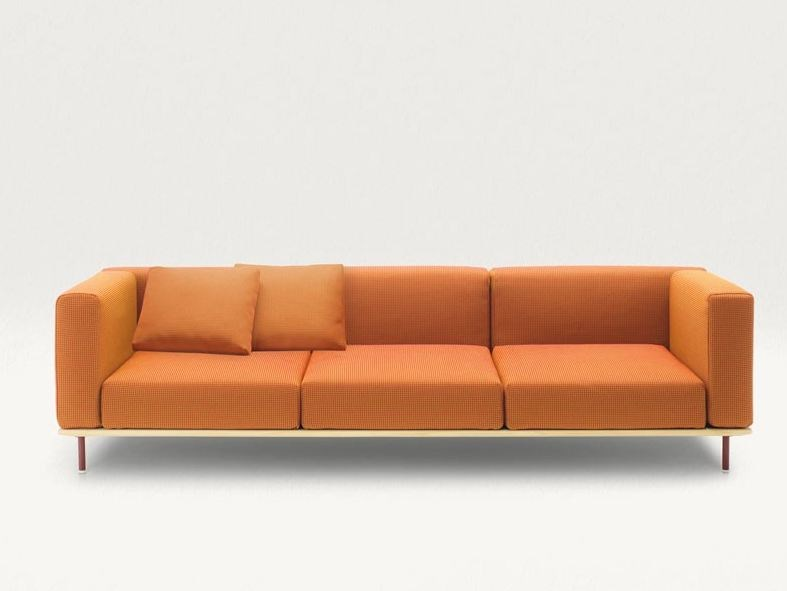 4 seater fabric sofa with removable cover BENCH | 4 seater sofa by paola lenti