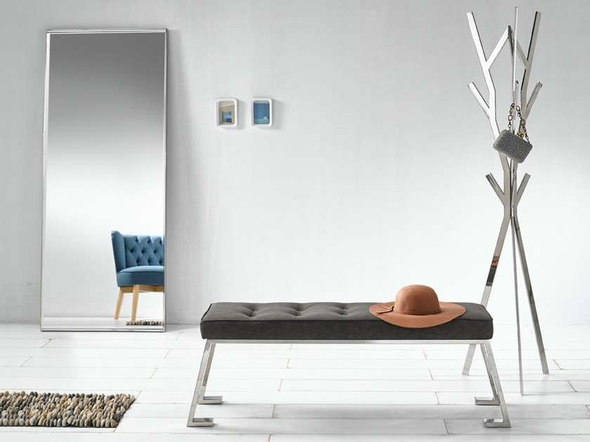Contemporary style upholstered leather bench BERLINER | Bench by Altinox