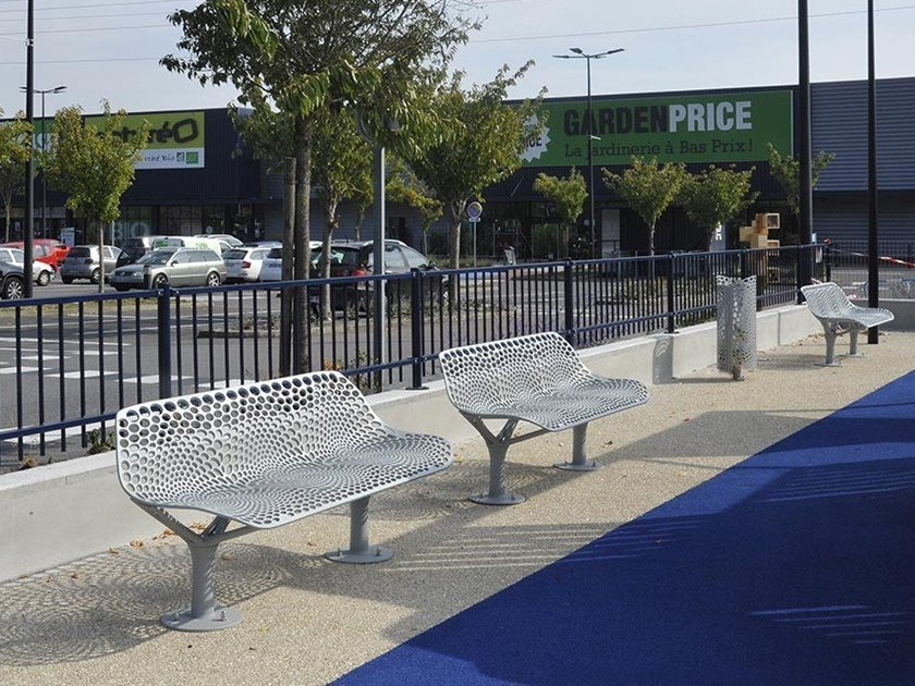 Metal Bench with back KEO | Bench by GHM-ECLATEC