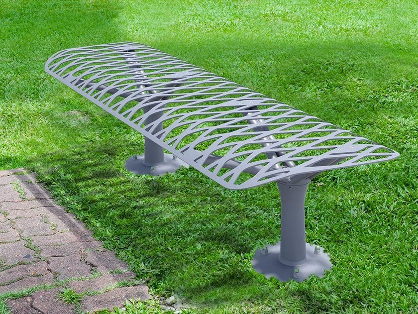 Backless metal Bench KEA | Bench by GHM-ECLATEC