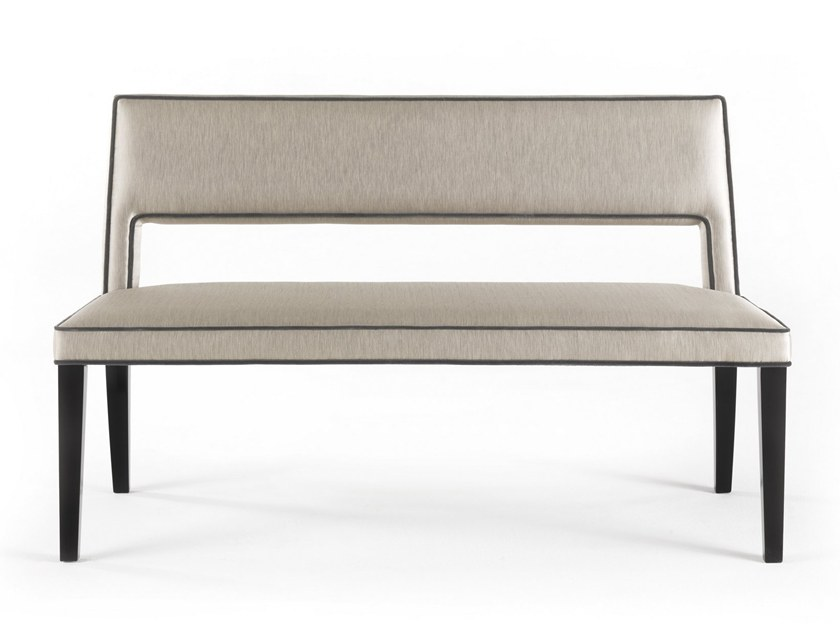 Upholstered fabric bench with back ELVIS | Bench by Gianfranco Ferré Home