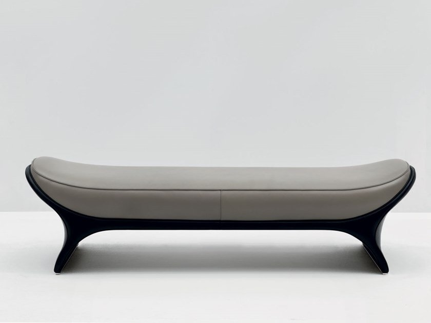 Upholstered leather bench LA GOCCIA | Bench by Mascheroni