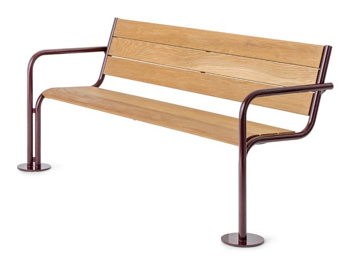Wooden Bench with back GROW | Bench by Nola Industrier
