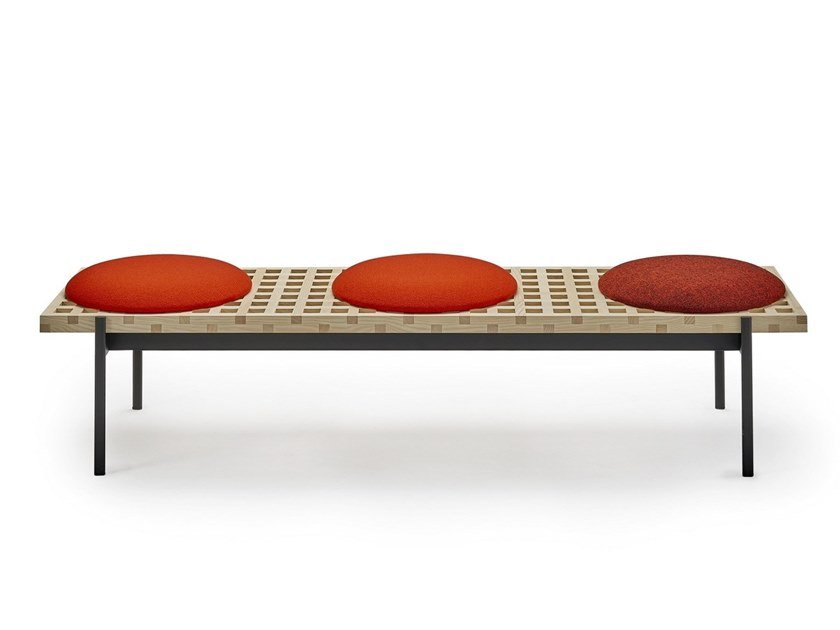 Wooden bench seating INTERCHANGE | Bench seating by Sancal