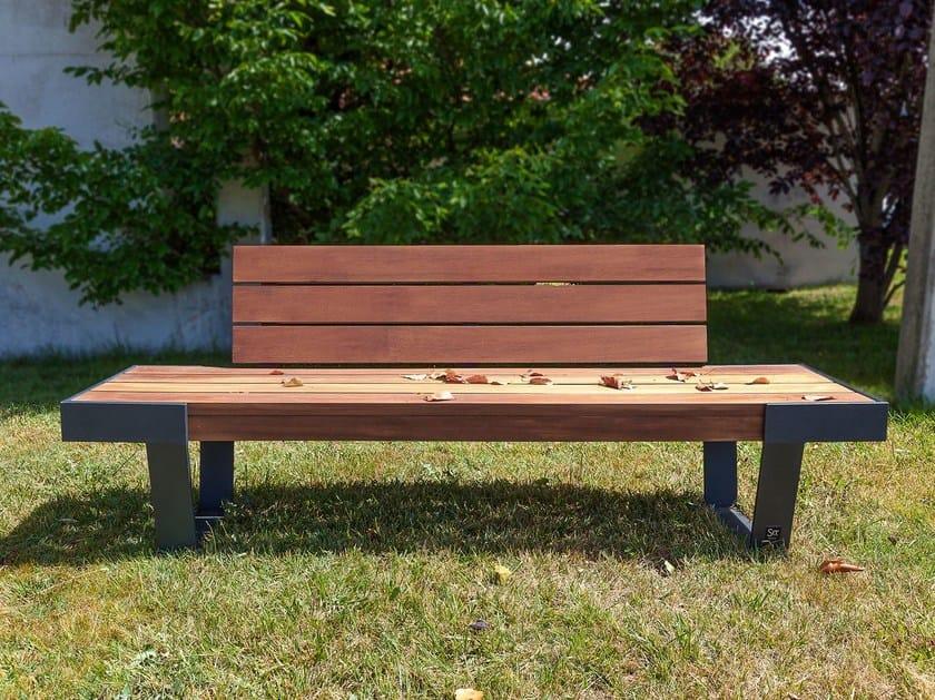 Panchina con schienale WADE | Panchina by SIT