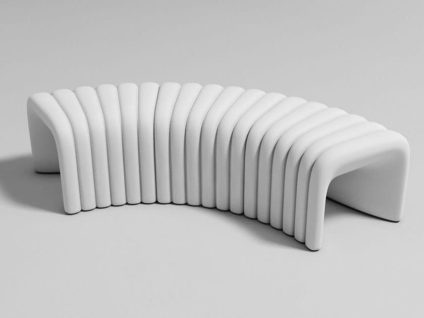 Modular polyurethane bench with fire retardant padding RIVER SNAKE | Bench by Tonon