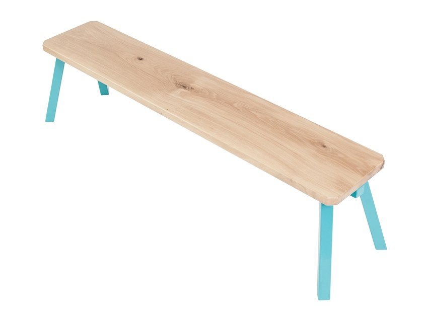 Oak bench MYWAY | Bench by UBIKUBI