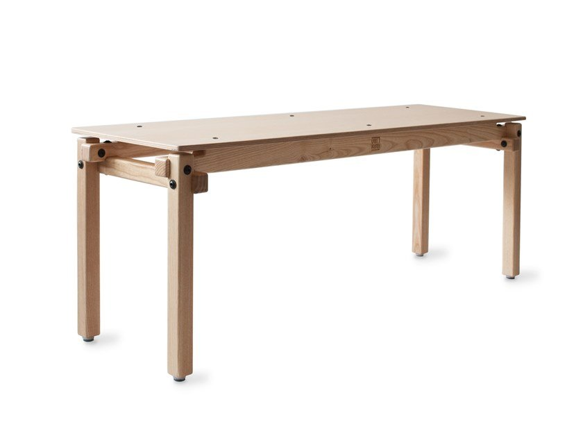 Ash bench FAIR AND SQUARE | Bench by UBIKUBI