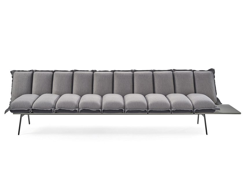 Fabric bench with back NEXT STOP | Bench with back by Sancal