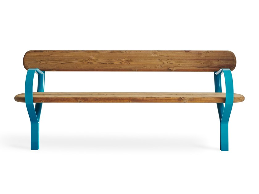 Folk Panchina Con Schienale Collezione Folk By Vestre Design Front