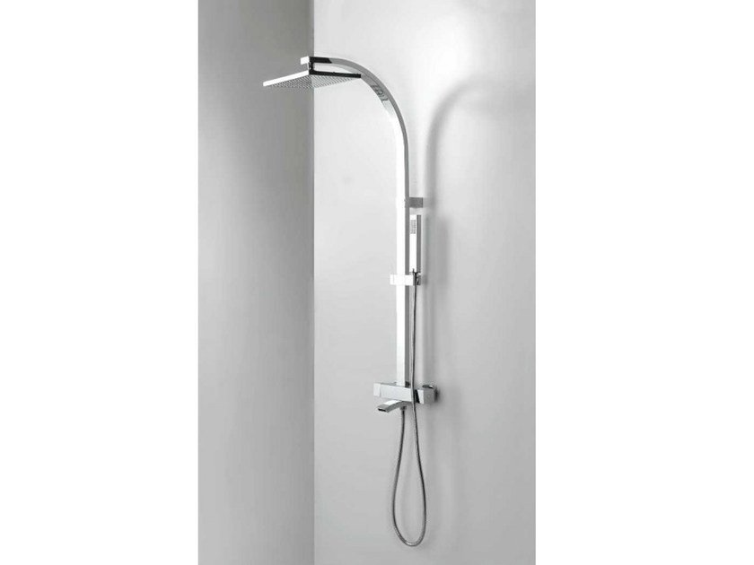 Wall-mounted bathtub tap with overhead shower BEND MIX by Systempool