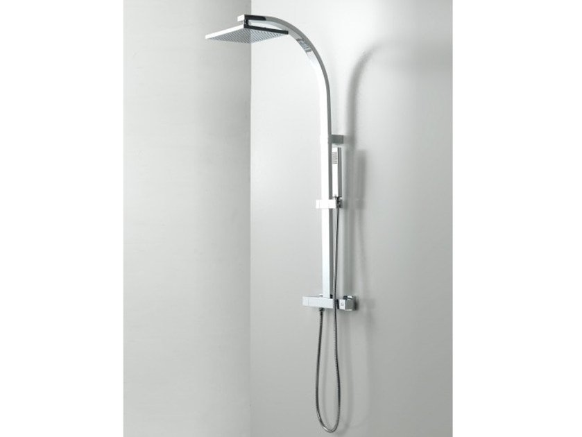 Thermostatic shower panel with hand shower BEND by Systempool