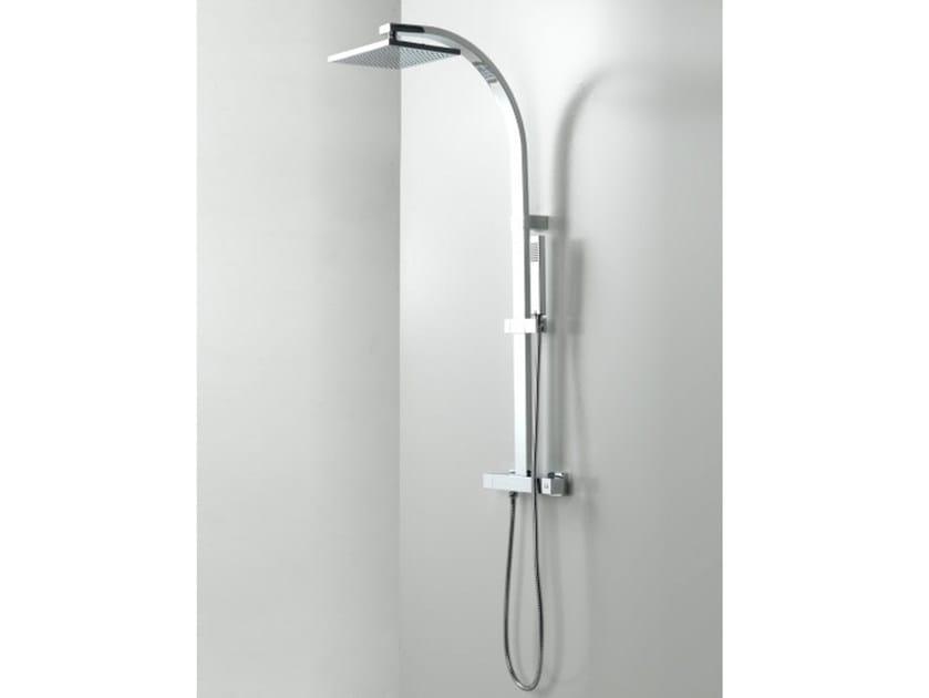 Colonna doccia termostatica con doccetta BEND by Systempool